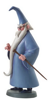 Merlin the wizard from King Arthur