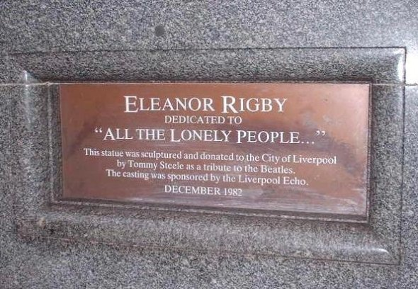 Plaque Dedicated to Eleanor Rigby
