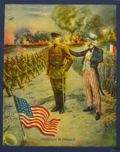WWI poster Gen Pershing and Uncle Sam